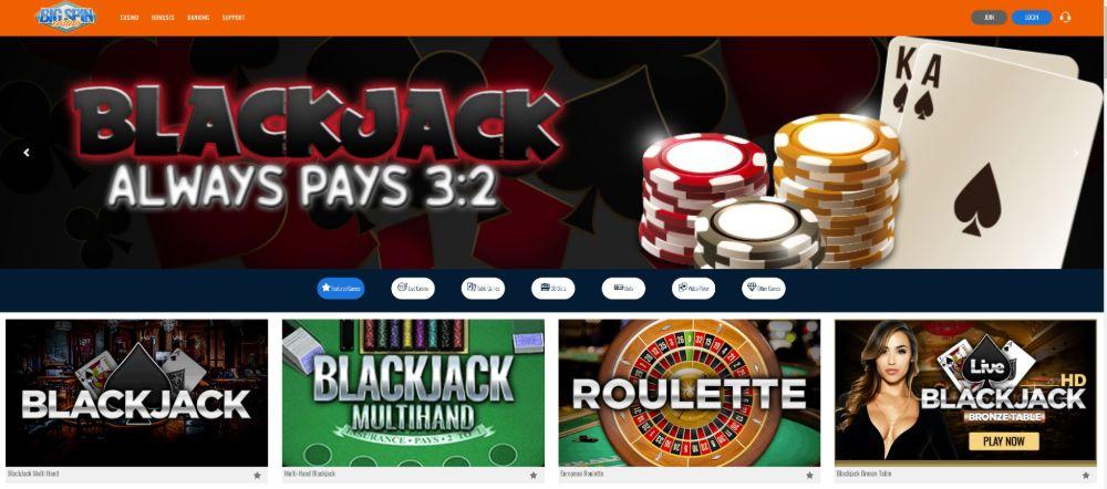 bigspin casino games