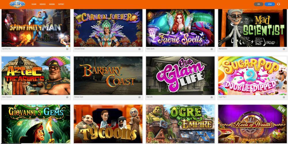 bigspin casino slots