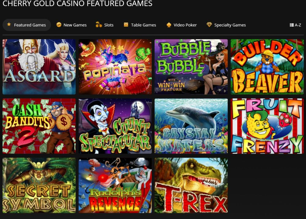 cherry gold casino games