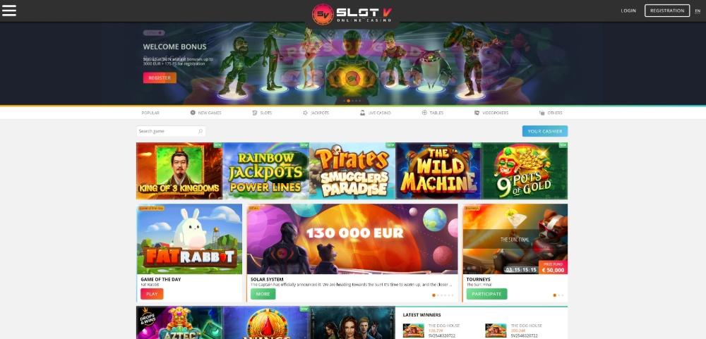 slotv homepage