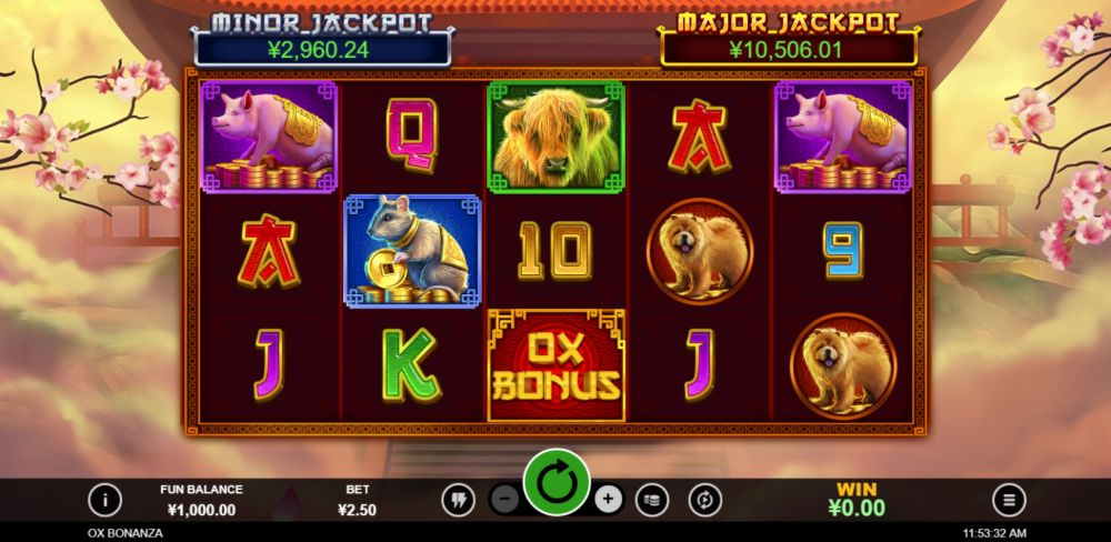 ox bonanza slot by rtg