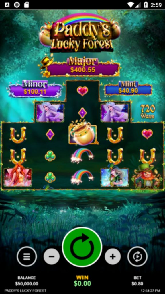 paddys lucky forest slot by rtg