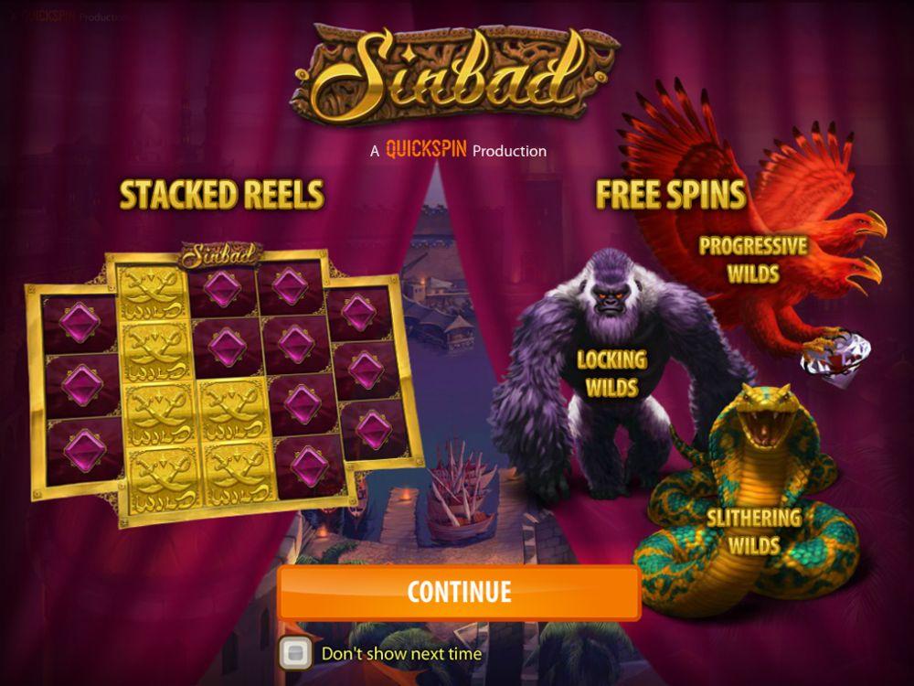 sinbad slot by quickspin