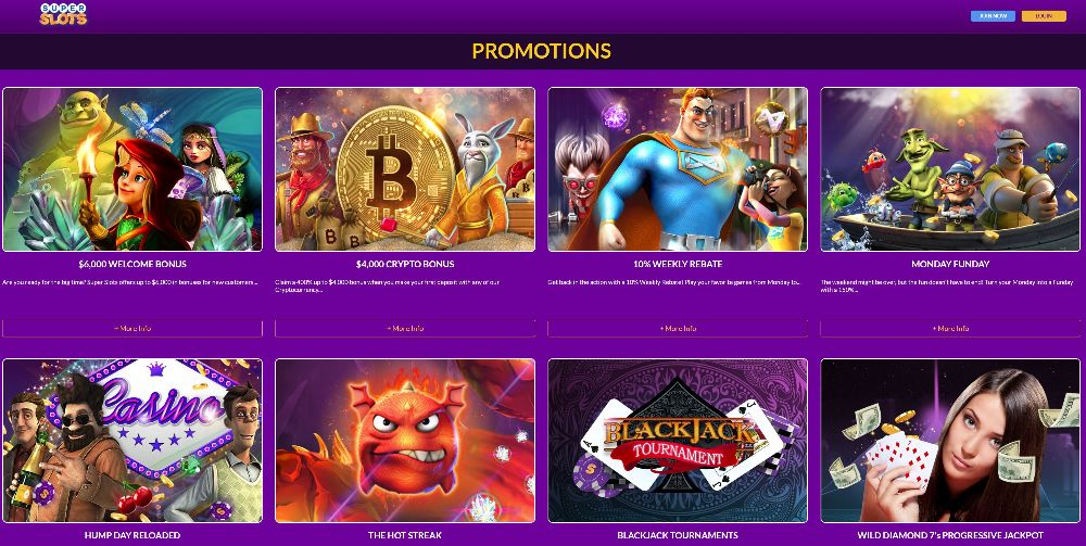super slots promotions and bonuses