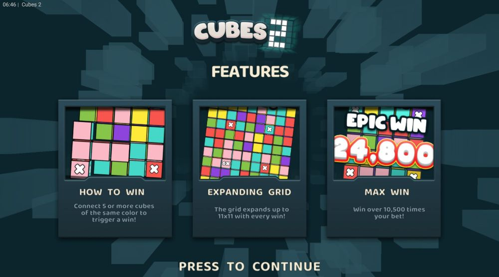 cubes 2 slot by microsoft and hacksaw gaming