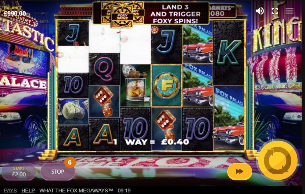 what the fox megaways slot by red tioger gaming
