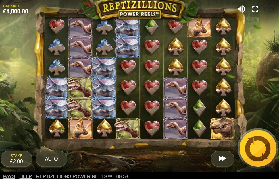 Reptizillions Power Reels slot by red tiger gaming