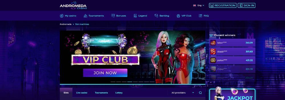andromeda casino lobby