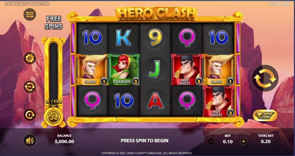 hero clash slot stakelogic