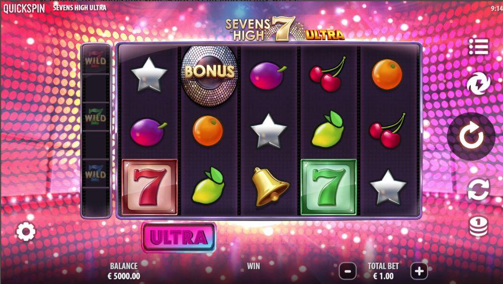 sevens high ultra slot quickspin