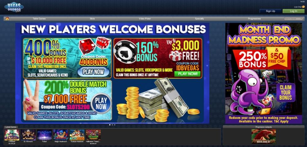 bonus promotions for Vegas casino online